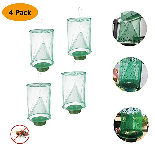 Ranch Fly Trap Flay Catcher The Most Effective Trap Ever Made with Pots Flay Catcher 2019 New Fly Red Drosophila Fly Trap Garden Ranch Orchard Trap