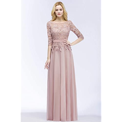 daadbf883f PrevNext. PrevNext. MisShow Applique 3/4 Sleeves Prom Evening Dresses Formal  2019 for Women Lace Chiffon Gowns