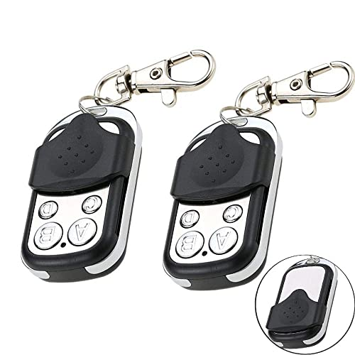 Windfall Cloning Remote Control,Universal Garage Door Remote,Remote Relay Switch 433.9MHz Remote Control with Four Channel for Old Key Fob Replacement-2 Pack