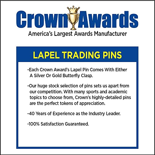 1 Gold Track and Field Enamel Lapel Pin Prime Crown Awards Track and Field Pin