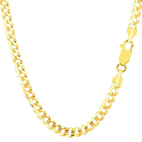 3mm 12mm Pori Jewelers 925 Sterling Silver Cuban//Curb Pave Chain Necklace Made in Italy