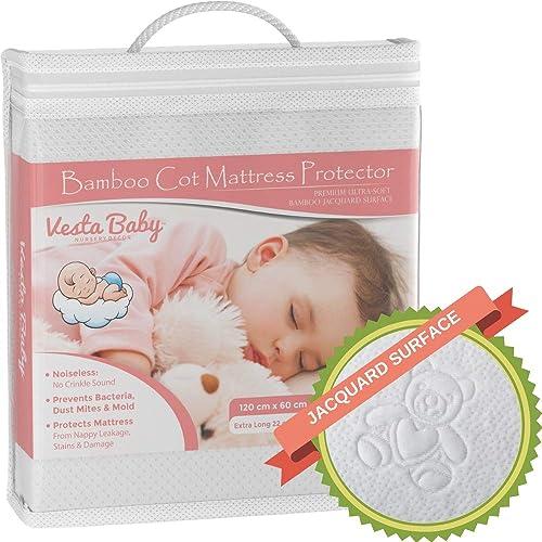 NEW WATERPROOF BABY CRIB CRADLE MATTRESS PROTECTOR SHEET WASHABLE 90x40