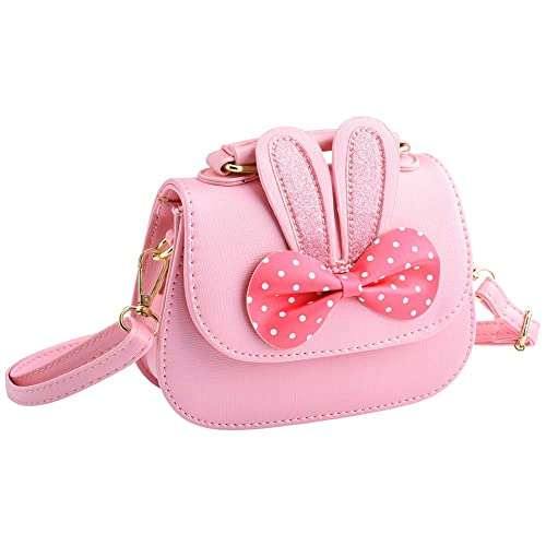 IGNPION Little Girls Bowknot PU Cross Body Handbag Mini Fashions Tote Shoulder