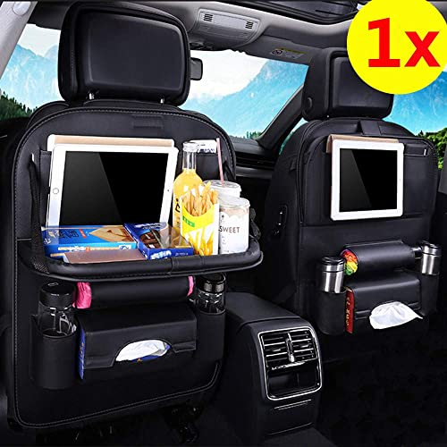 Kick Mats Back Seat Protector  Car Seat Protector Durable Quality Seat Covers Backseat Organizer Table Tray for Baby Leather Foldable Dining With iPad and Tablet Holder Travel Accessories 1 Pack.
