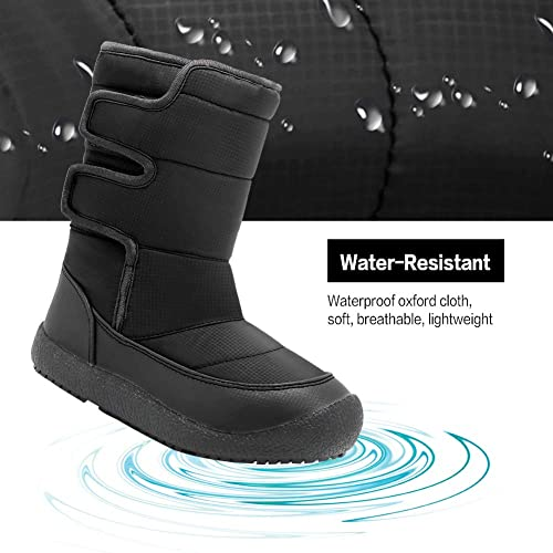 EQUICK Boys Girls Snow Boots Fur Lined Winter Outdoor Slip On Shoes Boots U218WXZ032