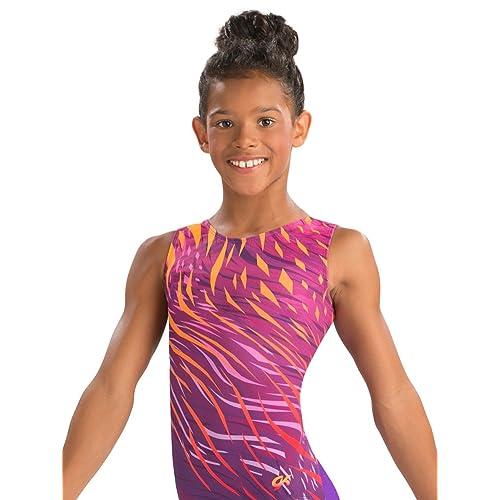 ESHOO Girls Sleeveless Gymnastics Sparkle Gradient Color Ballet Dance Leotards