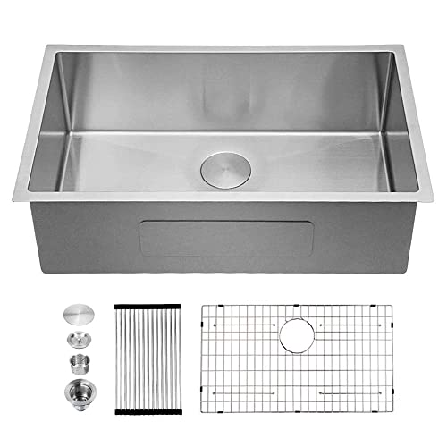 Kitchen Sink Undermount Sarlai 32 Inch Kitchen Sink Undermount 16 Gauge Deep Single Bowl Stainless Steel Sink Basin Buy Products Online With Ubuy Kuwait In Affordable Prices B0813hlm98
