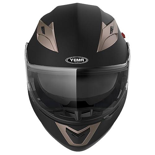 Clear Visor with Pinlock YEMA Helmet Visor Face Shield for YM-925 and YM-926