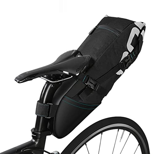 Black XPhonew 10L Mountain City Road MTB Bicycle Bike Cycling Outdoor Sport Waterproof Rear Seat Bag Pannier Trunk Bag Bicycle Accessories Shoulder Handbag Bag Pannier with Water Bottle Pouch