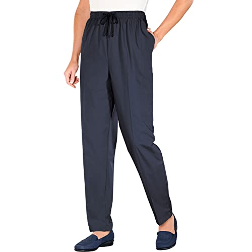 Mens Fleece-Lined Trouser Pants Pull On Cord Elastciated Waist with Drawcord
