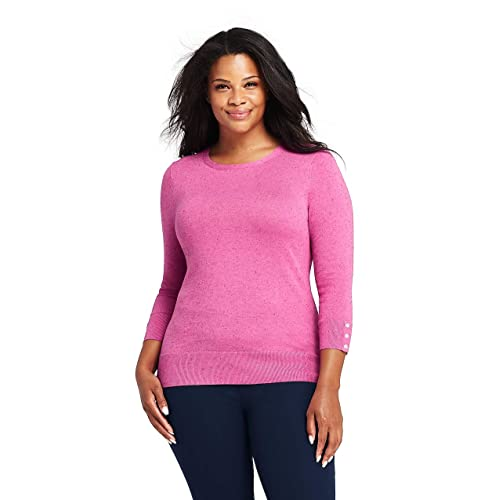126e96e3a05f Buy Lands' End Women's Plus Size Supima Cotton 3/4 Sleeve Sweater ...