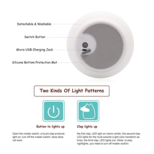 SCOPOW Portable Silicone 7-Color LED Smile Cute Children Night Light