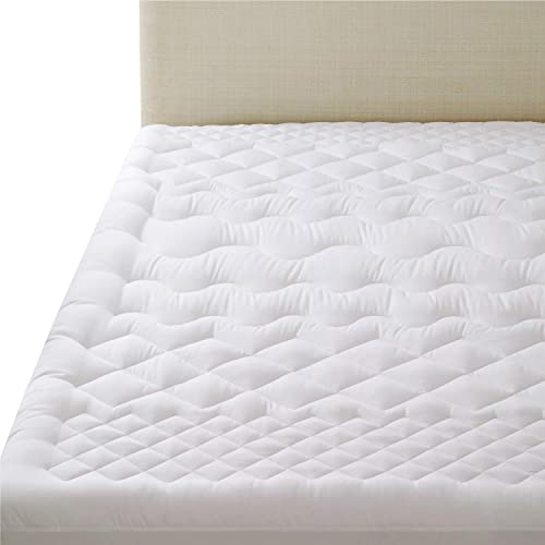 Quilted Waterproof Mattress Pad Deep Pocket Fitted Skirt Cover Protector New