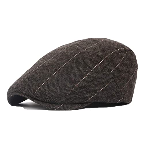 JAOAJ Mens Tartan Flat Cap Duckbill Hat Driving Cap Beret Irish Newsboy Cap Gatsby Ivy Cap Winter Hat