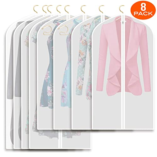 """10 Pack Garment Bag Suit Bags with Zipper for Closet Storage 24/""""x43/""""//50/"""""""