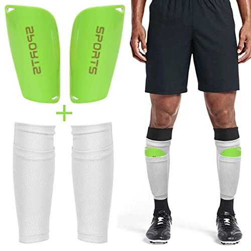 Gonex Shin Pads for Kids Girls Boys Soccer Games with Socks Football Shinguards Sleeves for Children Adults junior Youth Mens