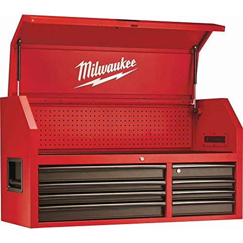 Heavy-duty Red and Black Drawer 16 Tool Chest 46 In and Rolling Cabinet Set Personal Valuables Storage Drawer with Separate Lock in the Tool Chest