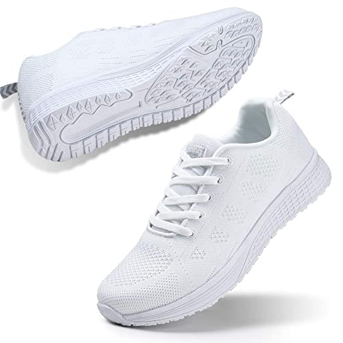 Womens Ladies Sports Trainers Running Gym Lightweight Casual Lace Fitness Shoes