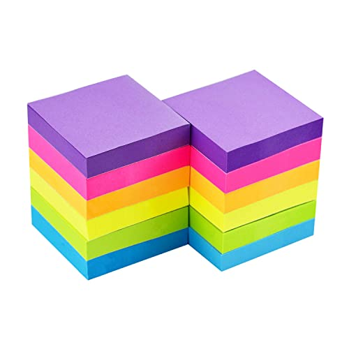 6 Pads//Pack Early Buy 6 Candy Color Lined Sticky Notes Self-Stick Notes 3 in x 3 in 100 Sheets//Pad