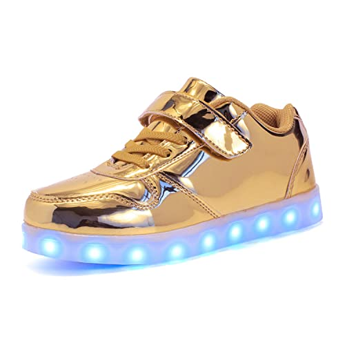 LED Light up Shoes Kids Boys Girls USB Charging Low Top Sneakers Flashing Shoes Toddler Casual Shoes Christmas Halloween