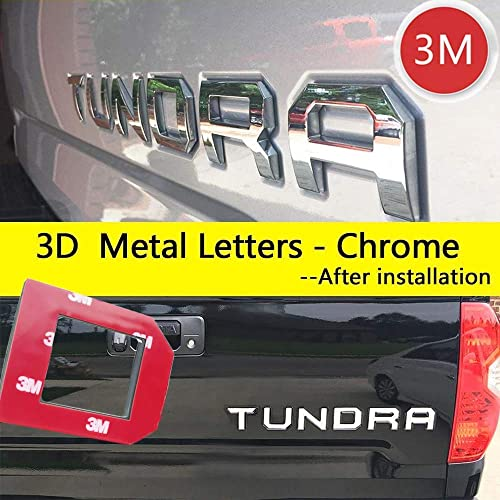 Matte Black Not Decal Sticker Auto safety for Toyota Tacoma 2016 2017 2018 2019 Tailgate 3D Metal Letters Insert with 3M Adhesive