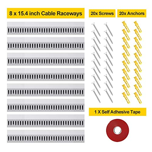 Cable Raceway Kit UMTELE Cable Concealer Open Slot Wiring Raceway Duct with to