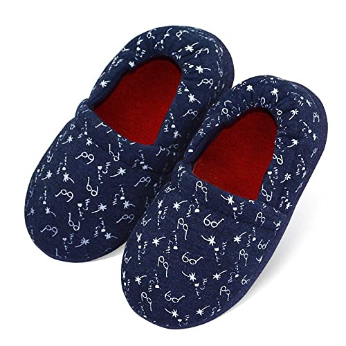 LA PLAGE Boys//Little Kid Slippers Winter Warm Indoor Slip-on with Hard Anti-Slipping Sole
