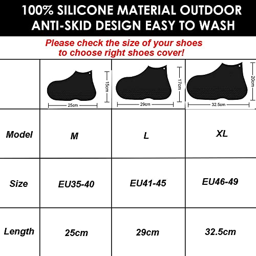 17b06ad865d73 Buy LEGELITE Reusable Waterproof Silicone Boot and Shoe Covers ...