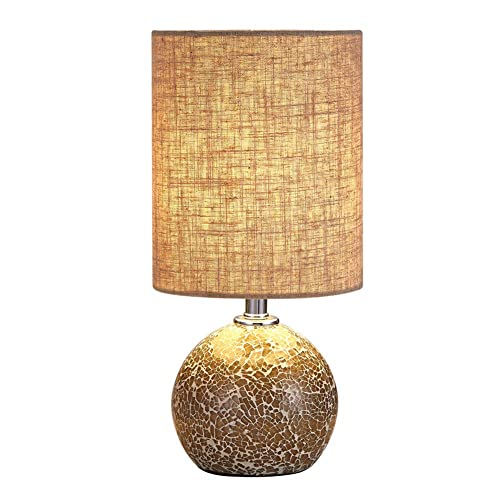 Bedside Table Lamp Desk Lamp 12 5 H Mini Nightstand Lamp Mosaic Bedroom Night Lamp Small End Side Table Lamp Bed Lighting With Drum Shade For