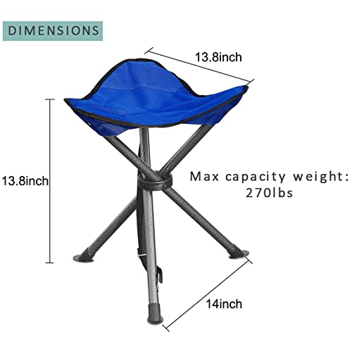 Lightweight Foot Rest Seat JSHANMEI Outdoor Folding Stool Slacker Chair for Camping Fishing Hiking Mountaineering Travel Outdoor Recreation with Carrying Bag