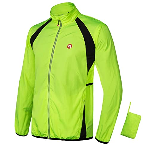 Men/'s Cycling Jacket High Visibility Windproof MTB Bike Coat Riding Jersey Tops