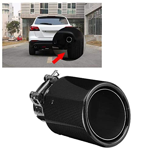 Real Carbon Fiber Auto SUV Exhaust Pipe Muffler End Tips For Car 63mm-114mm