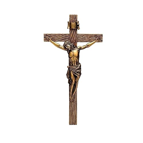 Buy Roman Jesus Christ Nailed To Crucifix Bronze 13 Inch Resin Stone Wall Cross Crucifix Online In Kuwait B0054lb4g4
