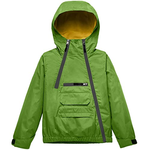 Mallimoda Boys Girls Waterproof Jacket with Hooded Windbreaker Rain Coat Outdoors