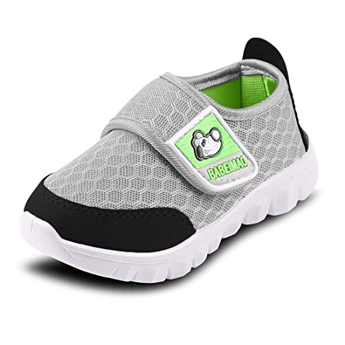 DADAWEN Boys Girls Lightweight Breathable Strap Sneakers Casual Athletic Running Shoes