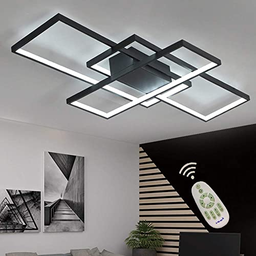 Buy Led Ceiling Light Dimmable Living Room Kitchen Island Table Light Fixture With Remote Control Modern Dining Room Flush Mount Acrylic Chic Design Ceiling Chandeliers Lighting For Bedroom Bathroom Lamp Online In