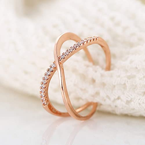 08a61df0c Buy Cubic Zirconia Infinity Symbol Ring CZ Forever Endless Love ...