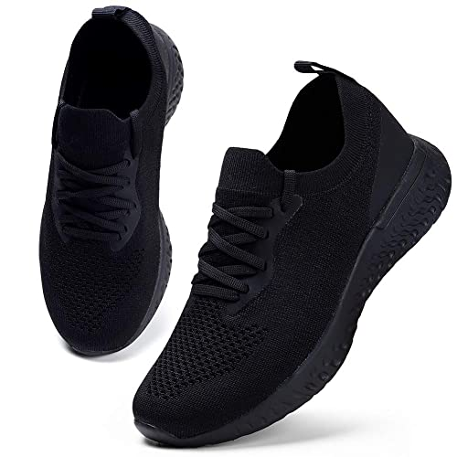 Women/'s Sneakers Running Walking Shoes Mesh Upper Athletic Lace Up Lightweight