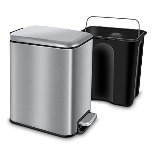 Yctec Rectangular Small Trash Can With