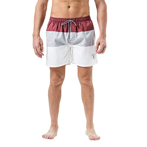 167c4561f8 Buy Lapulas Mens Swim Shorts Beach Bathing Swim Trunks Quick Dry Boys  Swimwear with Mesh Lining Pockets with Ubuy Kuwait. B07R5J76S3