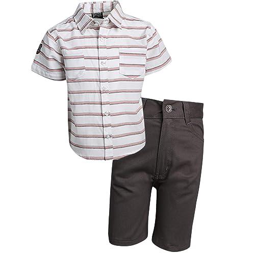 Toddler /& Little Boys Quad Seven Boys 2-Piece Woven Short Set