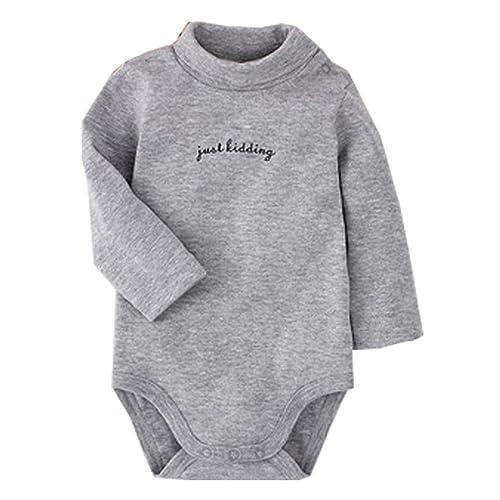 Random Color 12 Months CuteOn 3//5//7 Packs Baby Infant Newborn Cotton Turtleneck Top Bodysuit Gift set