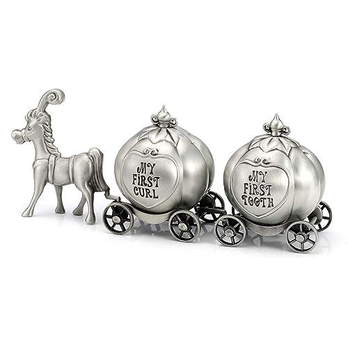 Feyarl First Curl and Tooth Elephant Keepsake Box Train Souvenir Box Christmas Shower Kids Gift