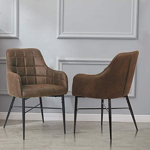 Black WarmieHomy Tub Chair Faux Leather Occasional Chair Upholstered Armchair with Solid Wood Legs for Bedroom Living Room Office Lounge Reception