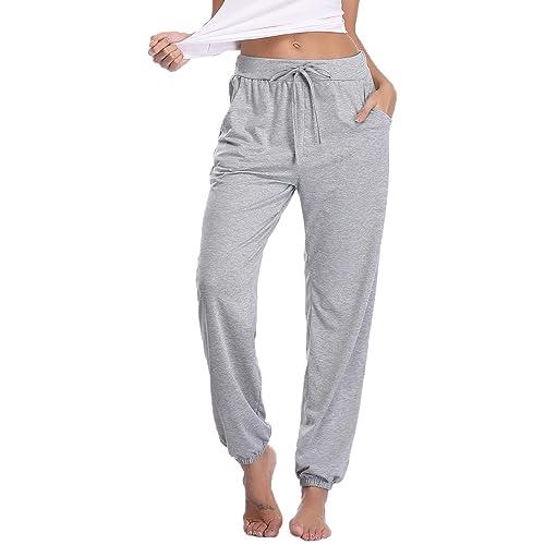 895d8a2aa Buy Abollria Women's Cotton Pajama Pants Stretch Lounge Pants with Pockets  Jogger Pants with Ubuy Kuwait. B07NMDKMG9
