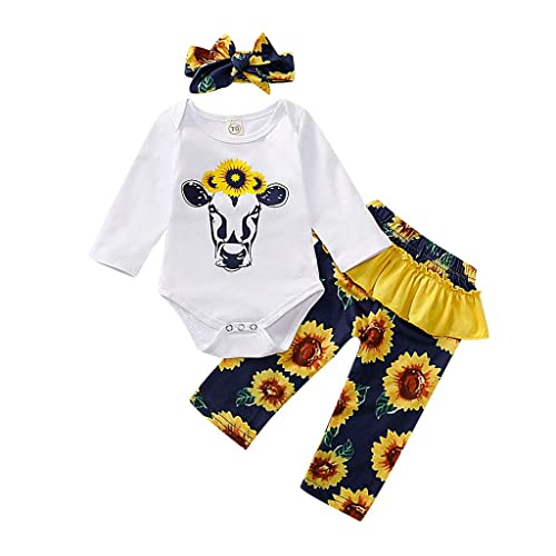 SSZZoo Kids Baby Girl Summer Set Heart Printed Bow Dress Tops+Pants Shorts Set Outfits Black
