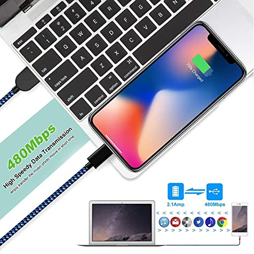 iPhone Charger 3ft/×2 6ft/×2 10ft KRISLOG MFi Certified Lightning Cable 5 Pack High Speed Transfer Cords USB Fast Charging/&Syncing Cable Compatible iPhone 11 Pro Xs MAX XR 8 8 Plus 7 7 Plus 6s 6s Plus