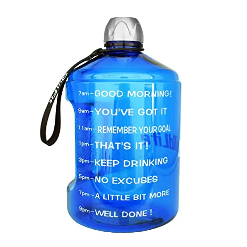 Drink More Water Daily BuildLife 3.78L//2.2L//1.3L Water Bottle Motivational Fitness Workout with Time Marker Large Water Jug Throughout The Day Clear BPA-Free
