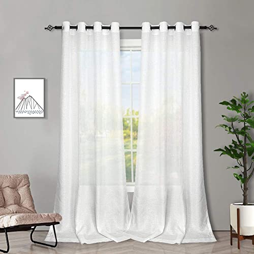 WHITE 1 PANEL GROMMET PRINTED VOILE SHEER WINDOW CURTAIN TREATMENT RED