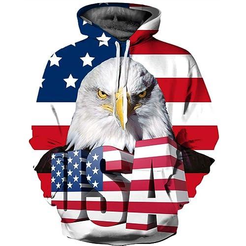 Chaofanjiancai Men Hooded Sweatshirt,Unisex Realistic 3D Print Galaxy Pullover Tops Fashion Hoodies with Pockets
